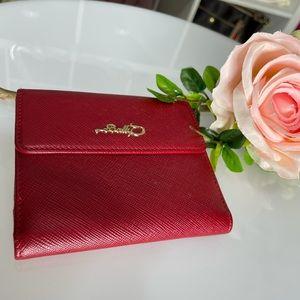 Preloved Bally deep red wallet